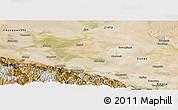 Satellite Panoramic Map of Jiuquan