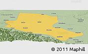 Savanna Style Panoramic Map of Jiuquan