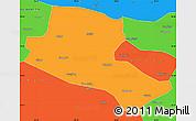 Political Simple Map of Jiuquan