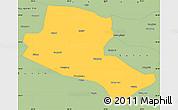Savanna Style Simple Map of Jiuquan