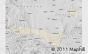 Shaded Relief Map of Lanzhou Shiqu, desaturated