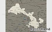 Shaded Relief Map of Gansu, darken