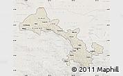Shaded Relief Map of Gansu, lighten