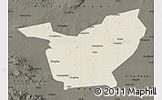 Shaded Relief Map of Minqin, darken