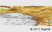 Physical Panoramic Map of Gansu
