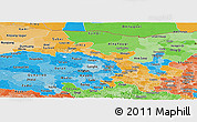 Political Shades Panoramic Map of Gansu