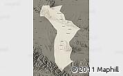 Shaded Relief Map of Shandan, darken