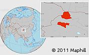 Gray Location Map of Subei