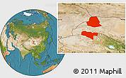 Satellite Location Map of Subei