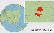 Savanna Style Location Map of Subei