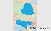 Political Map of Subei, lighten