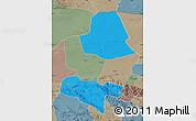 Political Map of Subei, semi-desaturated
