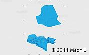 Political Map of Subei, single color outside