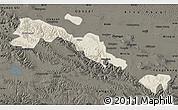Shaded Relief Map of Sunan, darken
