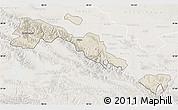 Shaded Relief Map of Sunan, lighten