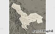 Shaded Relief Map of Tianzhu, darken