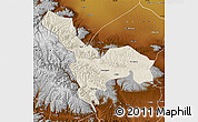 Shaded Relief Map of Tianzhu, physical outside