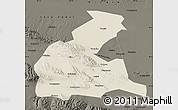 Shaded Relief Map of Yongchang, darken