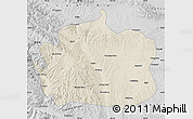 Shaded Relief Map of Yongdeng, desaturated