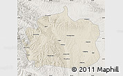 Shaded Relief Map of Yongdeng, lighten