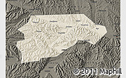 Shaded Relief Map of Yongjina, darken