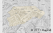 Shaded Relief Map of Yongjina, desaturated