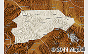 Shaded Relief Map of Yongjina, physical outside