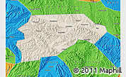 Shaded Relief Map of Yongjina, political outside