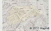 Shaded Relief Map of Yongjina, semi-desaturated