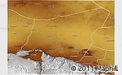 Physical 3D Map of Yumen Shi