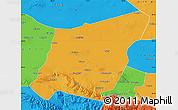 Political Map of Yumen Shi