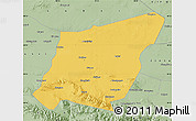 Savanna Style Map of Yumen Shi