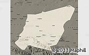 Shaded Relief Map of Yumen Shi, darken