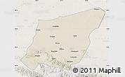Shaded Relief Map of Yumen Shi, lighten