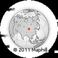 Outline Map of Yumen Shi