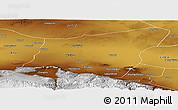 Physical Panoramic Map of Yumen Shi