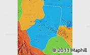 Political Map of Zhangye