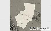 Shaded Relief Map of Zhangye, darken