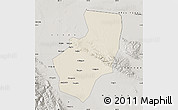 Shaded Relief Map of Zhangye, semi-desaturated