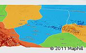 Political Panoramic Map of Zhangye
