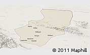 Shaded Relief Panoramic Map of Zhangye, lighten
