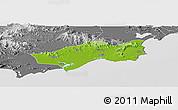 Physical Panoramic Map of Huilai, desaturated