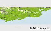Physical Panoramic Map of Huilai