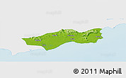 Physical Panoramic Map of Huilai, single color outside