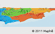 Political Panoramic Map of Huilai