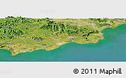 Satellite Panoramic Map of Huilai