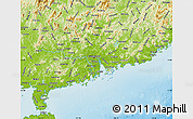 Physical Map of Guangdong