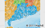 Political Shades Map of Guangdong