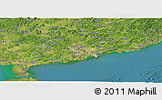 Satellite Panoramic Map of Guangdong