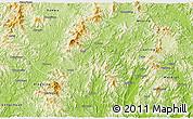 Physical 3D Map of Pingyuan